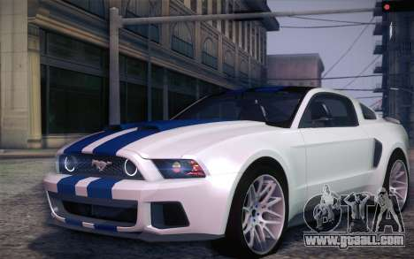 Ford Mustang 2013 - Need For Speed Movie Edition for GTA San Andreas left view