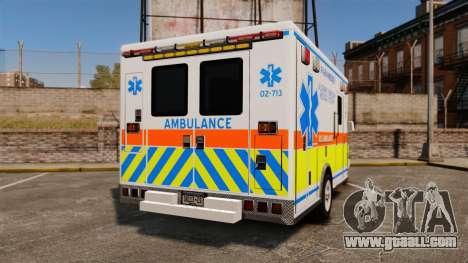GMC Savana 2005 Ambulance [ELS] for GTA 4 back left view