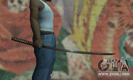 Samurai katana for GTA San Andreas third screenshot