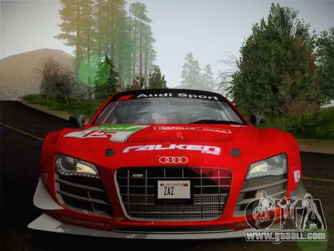 Audi R8 LMS Ultra Old Vinyls for GTA San Andreas upper view