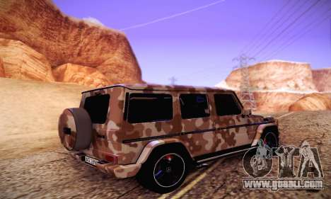 Mercedes Benz G65 Army Style for GTA San Andreas back left view