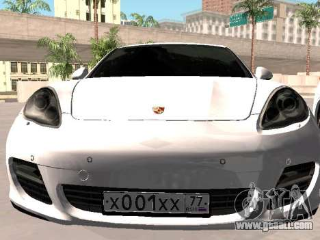 Porsche Panamera 2011 for GTA San Andreas back view