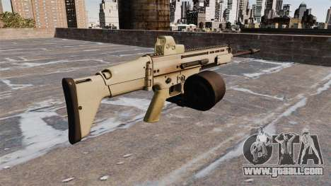 Automatic rifle FN SCAR-H LMG for GTA 4 second screenshot