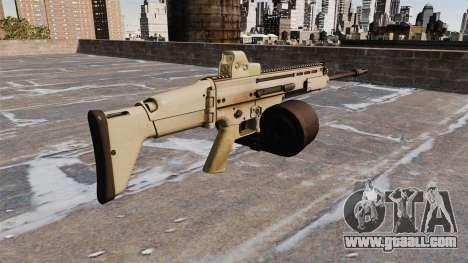 Automatic rifle FN SCAR-H LMG for GTA 4 second screenshot