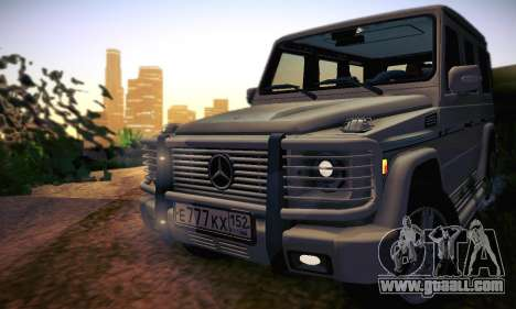 Mercedes-Benz G500 for GTA San Andreas bottom view
