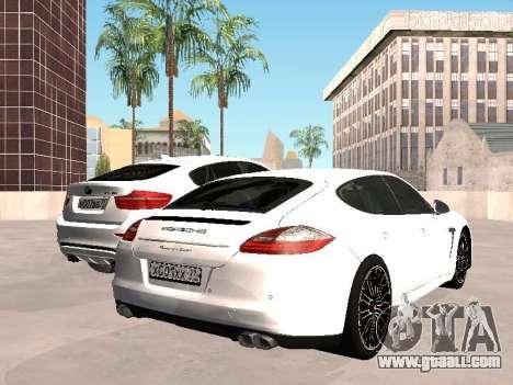 Porsche Panamera 2011 for GTA San Andreas back left view
