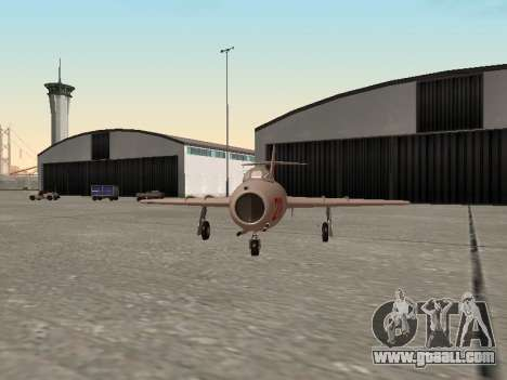 MiG 15 Bis for GTA San Andreas back left view