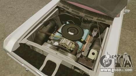 Dodge Polara 1971 for GTA 4 inner view