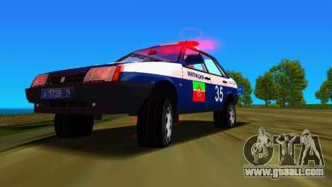 VAZ 21099 Militia for GTA Vice City bottom view
