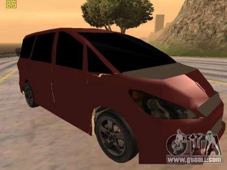 Toyota Estima 2wd for GTA San Andreas back left view