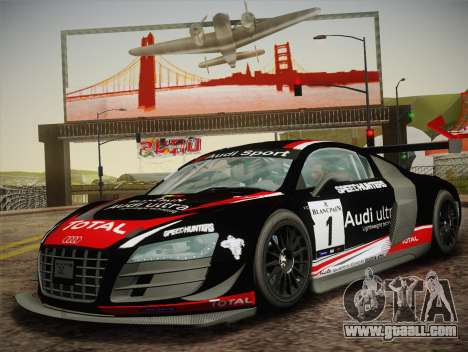 Audi R8 LMS Ultra W-Racing Team Vinyls for GTA San Andreas right view