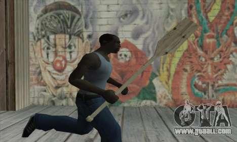 The wooden paddle for GTA San Andreas third screenshot