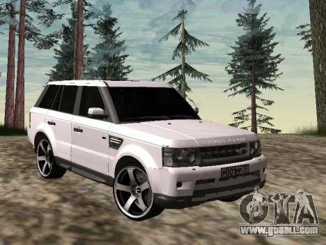 Range Rover Sport 2011 for GTA San Andreas