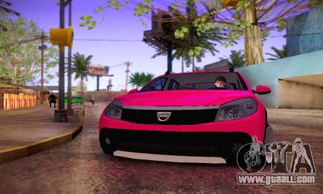 Dacia Sandero for GTA San Andreas back view