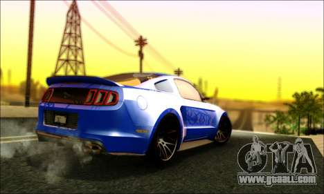 Ford Mustang GT 2013 v2 for GTA San Andreas right view
