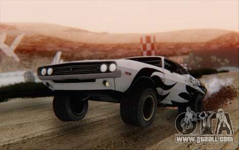 Dodge Challenger 1971 Aftermix for GTA San Andreas left view