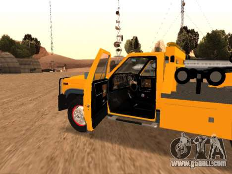 Ford F-250 for GTA San Andreas inner view