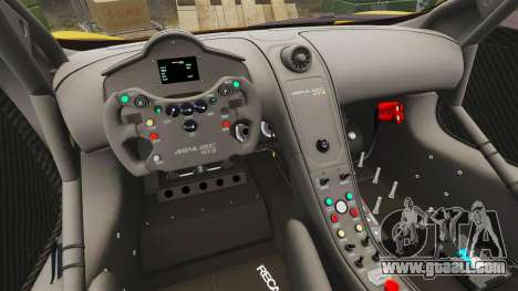 McLaren MP4-12C GT3 for GTA 4 inner view