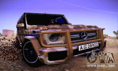 Mercedes Benz G65 Army Style for GTA San Andreas left view