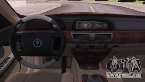 BMW 750Li E66 for GTA San Andreas back view