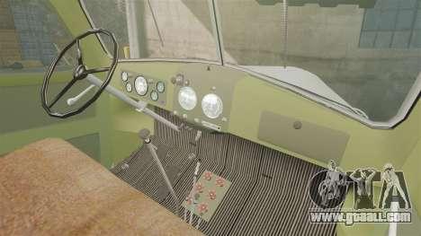 ZIL-157 GVK-32 for GTA 4 inner view
