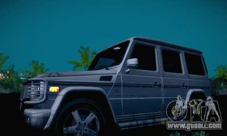 Mercedes-Benz G500 for GTA San Andreas inner view