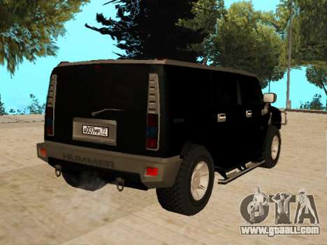 Hummer H2 for GTA San Andreas left view