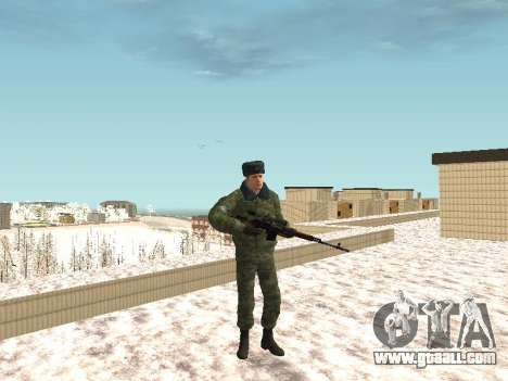 Military in winter uniform for GTA San Andreas forth screenshot