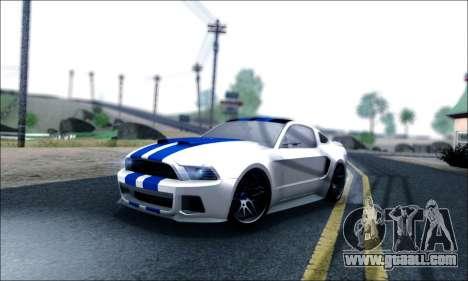 Ford Mustang GT 2013 v2 for GTA San Andreas interior