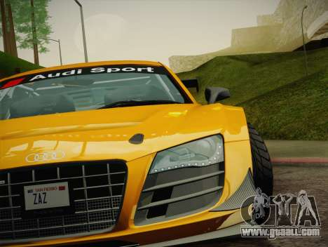 Audi R8 LMS Ultra W-Racing Team Vinyls for GTA San Andreas interior