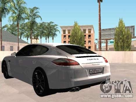 Porsche Panamera 2011 for GTA San Andreas left view