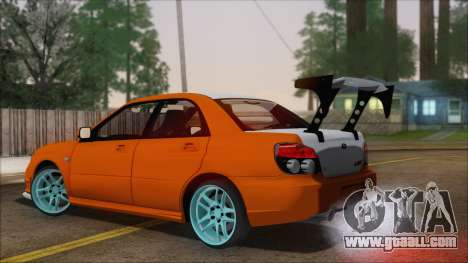 Subaru Impreza for GTA San Andreas left view