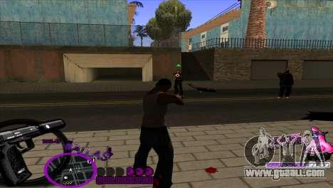 C-HUD Ballas by HARDy for GTA San Andreas third screenshot