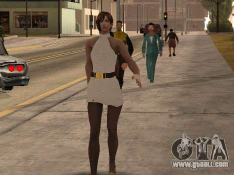 Girl in white dress for GTA San Andreas second screenshot