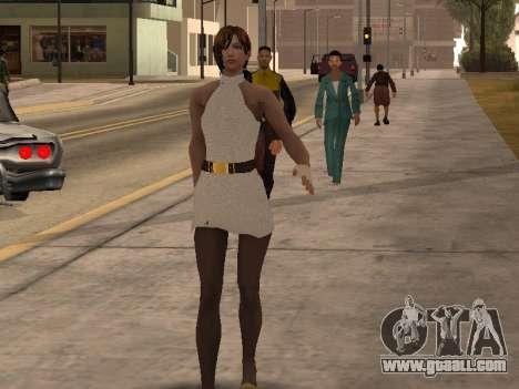 Girl in white dress for GTA San Andreas second screenshot