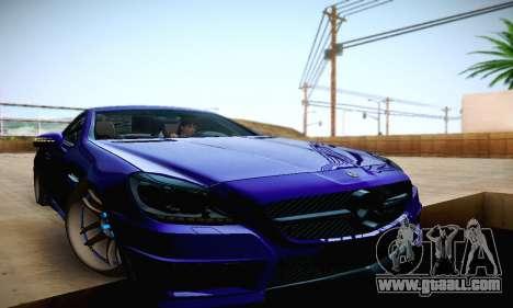 Mercedes Benz SLK55 AMG 2011 for GTA San Andreas upper view