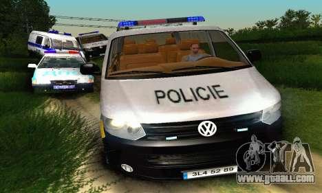 Volkswagen Transporter Policie for GTA San Andreas inner view