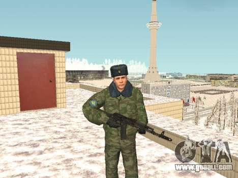 Military in winter uniform for GTA San Andreas