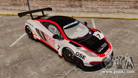 McLaren MP4-12C GT3 (Updated) for GTA 4 interior