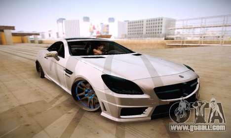 Mercedes Benz SLK55 AMG 2011 for GTA San Andreas back view