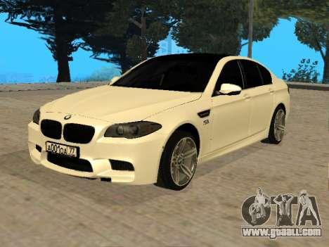 BMW M5 F10 V2.0 for GTA San Andreas
