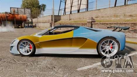 GTA V Grotti Turismo R for GTA 4 left view