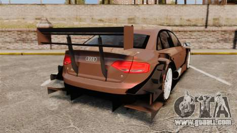 Audi A4 2008 Touring car for GTA 4 back left view