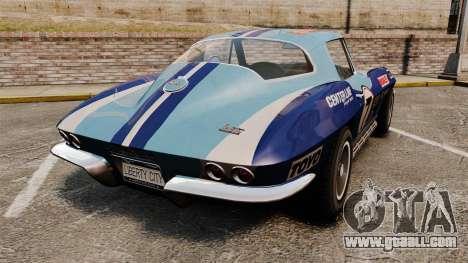 Chevrolet Corvette C2 1967 for GTA 4 back left view