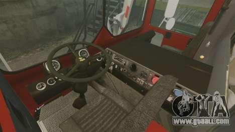 Mack MR 688S Front Load 2000 for GTA 4 inner view