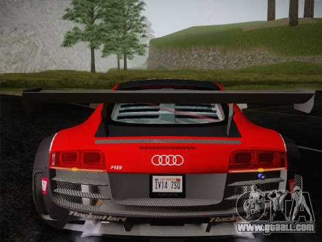 Audi R8 LMS Ultra Old Vinyls for GTA San Andreas bottom view