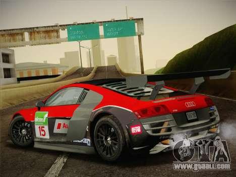 Audi R8 LMS Ultra Old Vinyls for GTA San Andreas interior