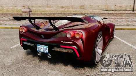 GTA V Grotti Turismo R v2.0 for GTA 4 back left view