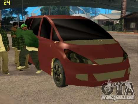 Toyota Estima 2wd for GTA San Andreas back view