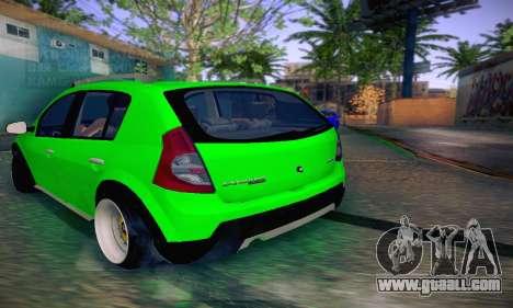 Dacia Sandero for GTA San Andreas back left view